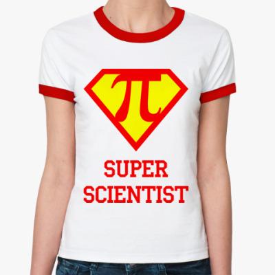 Женская футболка Ringer-T Superscientist 2