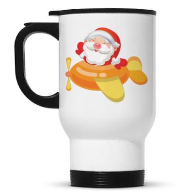 Кружка-термос Дед Мороз к нам мчится