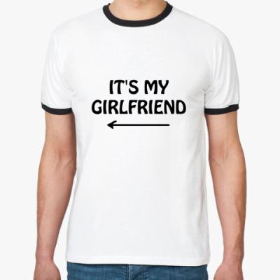 Футболка Ringer-T It's my girlfriend