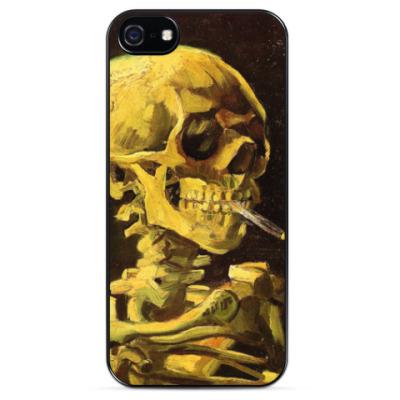 Чехол для iPhone Скелет с сигаретой