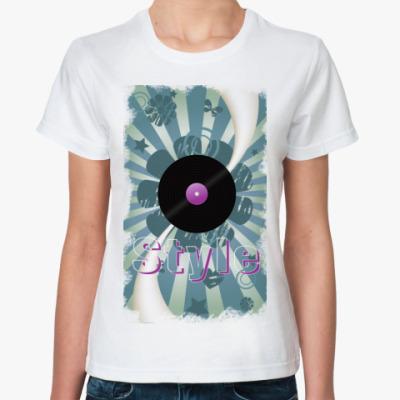 Классическая футболка пластинка
