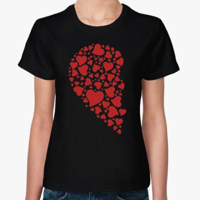 Женская футболка Половинка Сердца