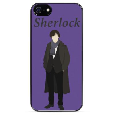 Чехол для iPhone Sherlock Holmes (Minimalism)