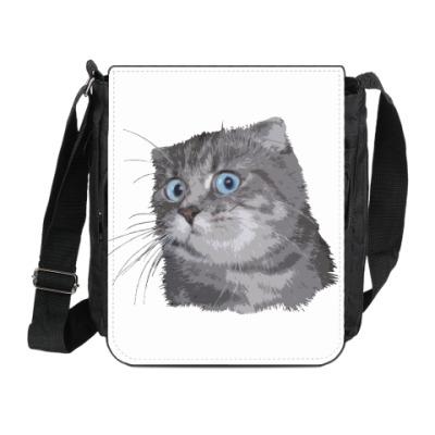Сумка на плечо (мини-планшет) Кот