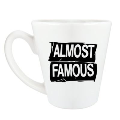 Чашка Латте Надпись ALMOST FAMOUS