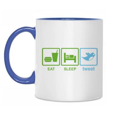 Кружка Eat, sleep, tweet