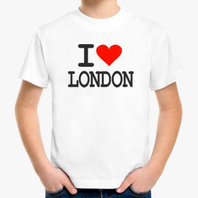 Детская футболка I love London