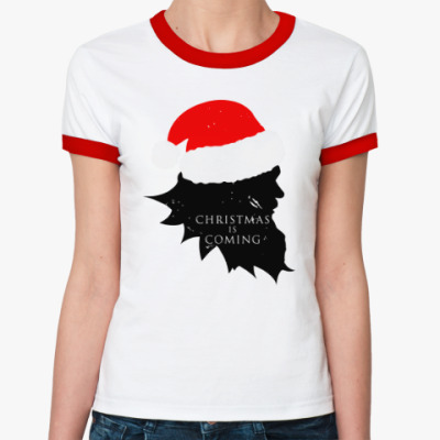 Женская футболка Ringer-T Christmas is coming