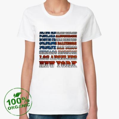 Женская футболка из органик-хлопка American