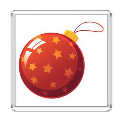 Магнит Елочный шар