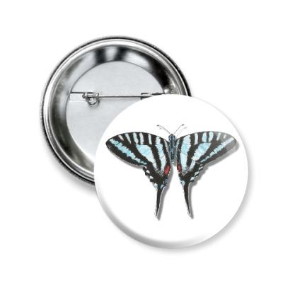 Значок 50мм Бабочка