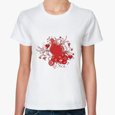 Классическая футболка Валентинка