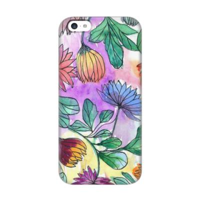 Чехол для iPhone 5c Цветочный принт