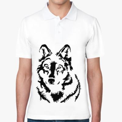 Рубашка поло Белый волк