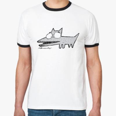 Футболка Ringer-T  'Крези волк'