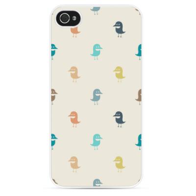 Чехол для iPhone смешные птички