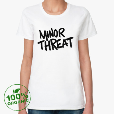 Женская футболка из органик-хлопка  Minor Threat
