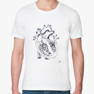 Футболка из органик-хлопка Строение сердца