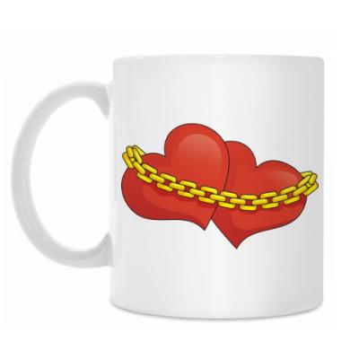 Кружка Сердца и цепь