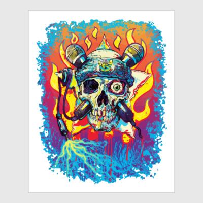 Постер Music Skull