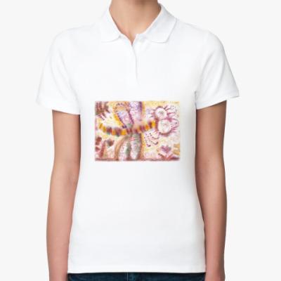 Женская рубашка поло Стрекоза из м/ф Винни-Пух