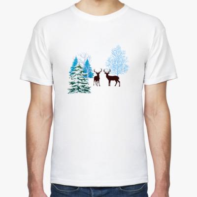 Футболка Зимние олени
