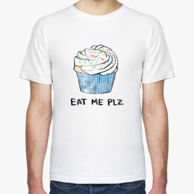 Футболка Eat me plz