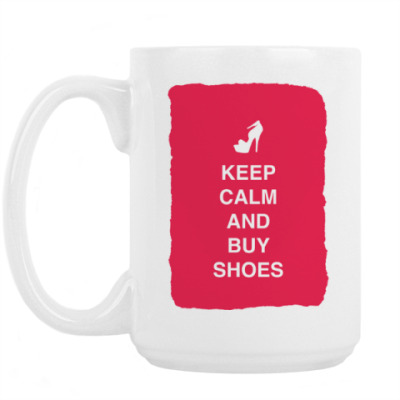 Кружка Keep calm and but shoes