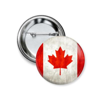 Значок 37мм Канада