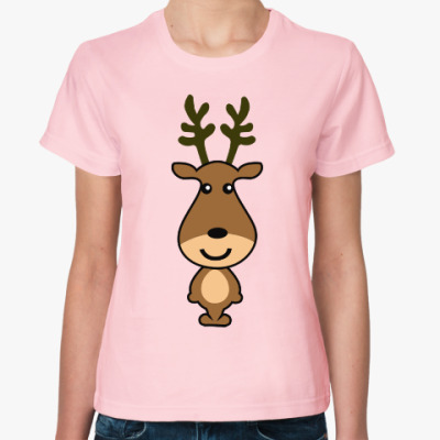 Женская футболка Олень