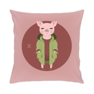 Animal Fashion: P is for Pig in parka