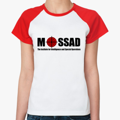 Женская футболка реглан Mossad