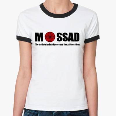 Женская футболка Ringer-T Mossad