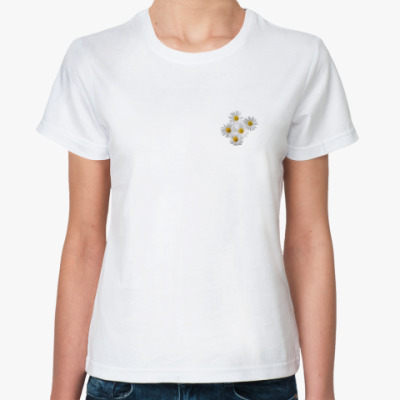 Классическая футболка  Ромашки