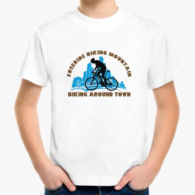 Детская футболка biking around town