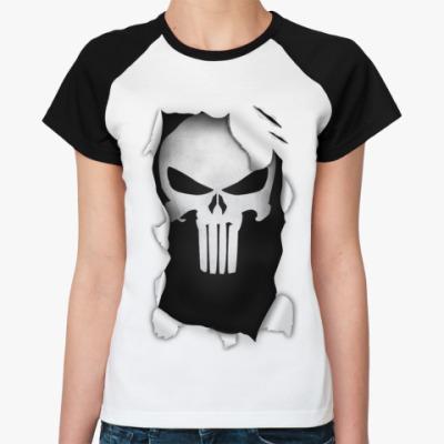 Женская футболка реглан 'Каратель'