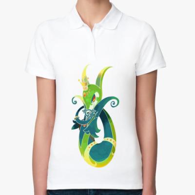 Женская рубашка поло Змейка