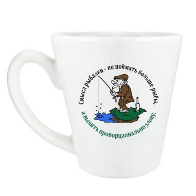 Чашка Латте Смысл рыбалки