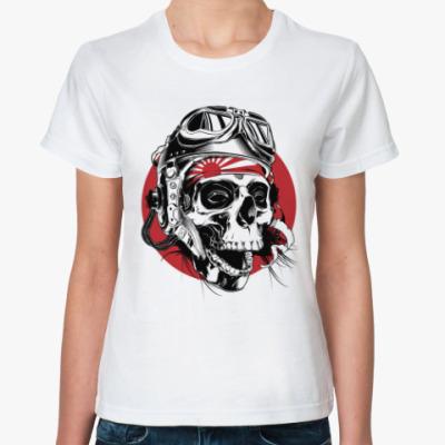 Классическая футболка Череп камикадзе в шлеме