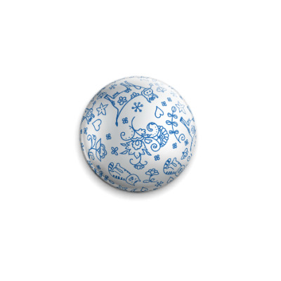 Значок 25мм Елочный шар