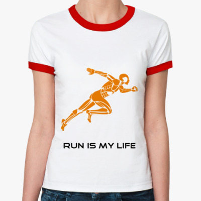 Женская футболка Ringer-T бегун