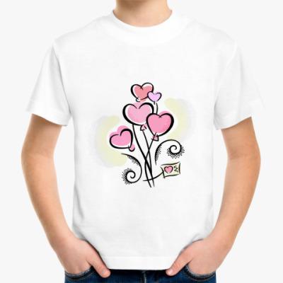 Детская футболка Сердечки