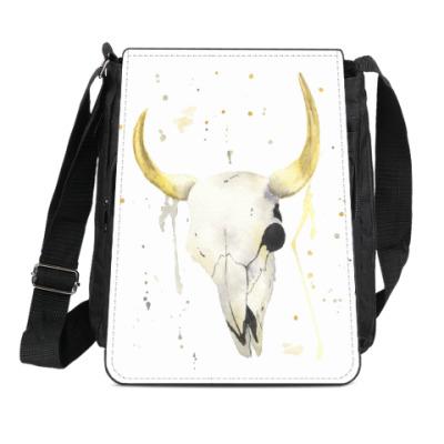 Сумка-планшет Декоративный череп коровы