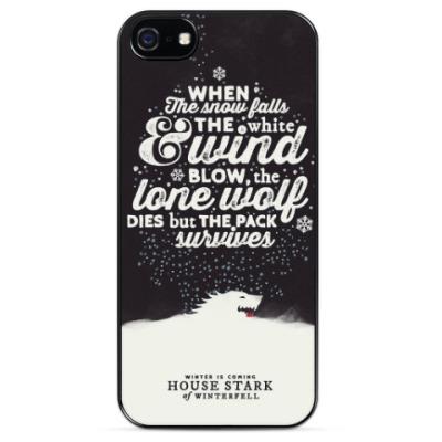 Чехол для iPhone Игра Престолов, Дом Старк, Зима близко, Волк