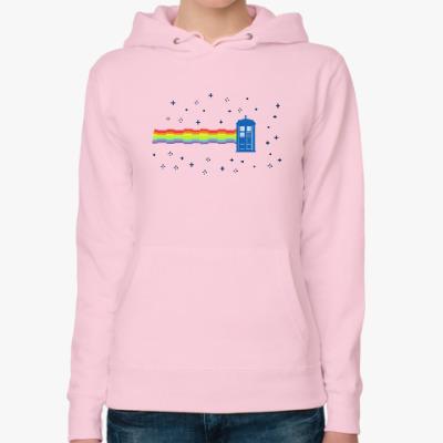 Женская толстовка худи  Nyan Cat &TARDIS