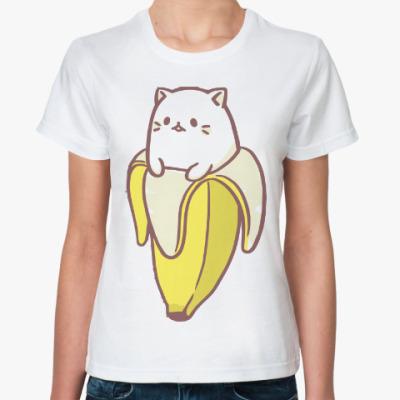 Классическая футболка Кот банан