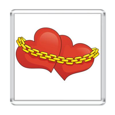 Магнит Сердца и цепь