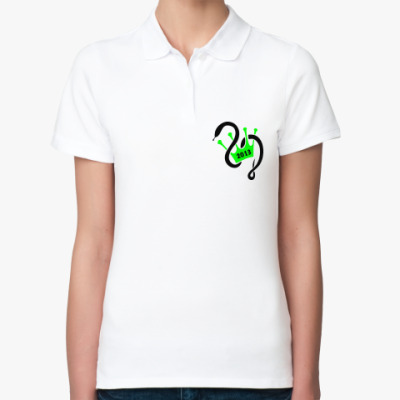 Женская рубашка поло Король года змеи 2013