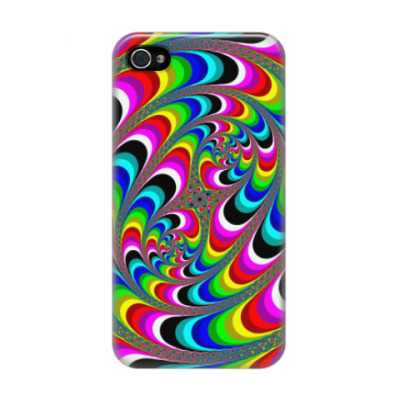 Чехол для iPhone 4/4s Spiral rainbow
