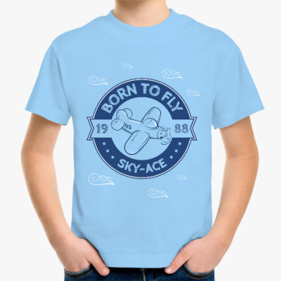 Детская футболка Born to fly